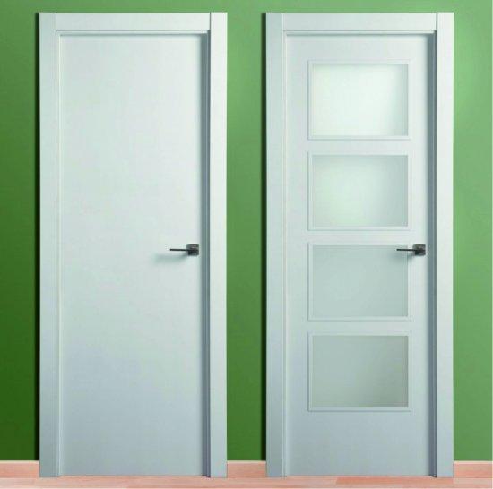 Puertas de interior lacada blanca